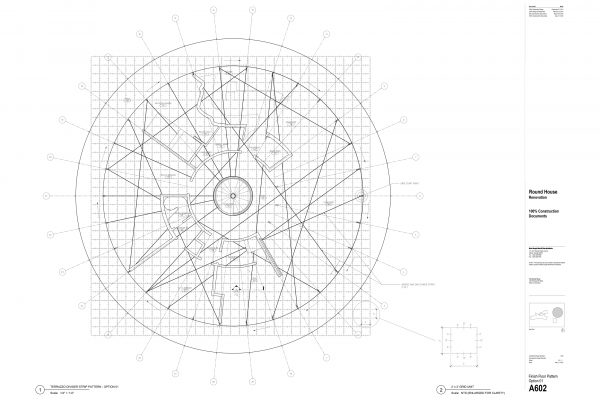 The Round House Renovation - Floor Pattern Round House Renovation Plans, 2012, courtesy: Mack Scogin Merrill Elam Architects