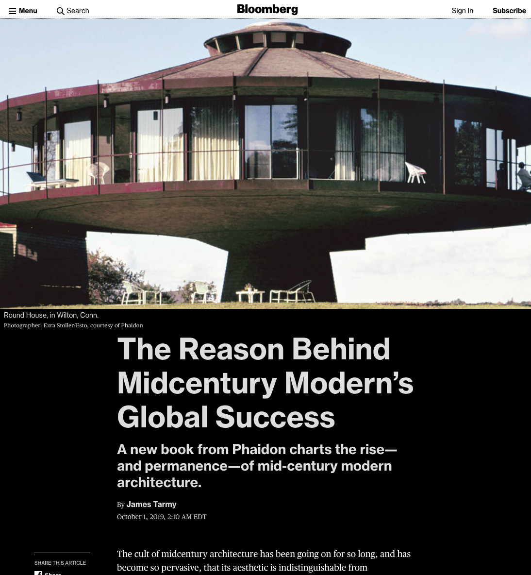 The Reason Behind Midcentury Modern's Global Success - Bloomberg