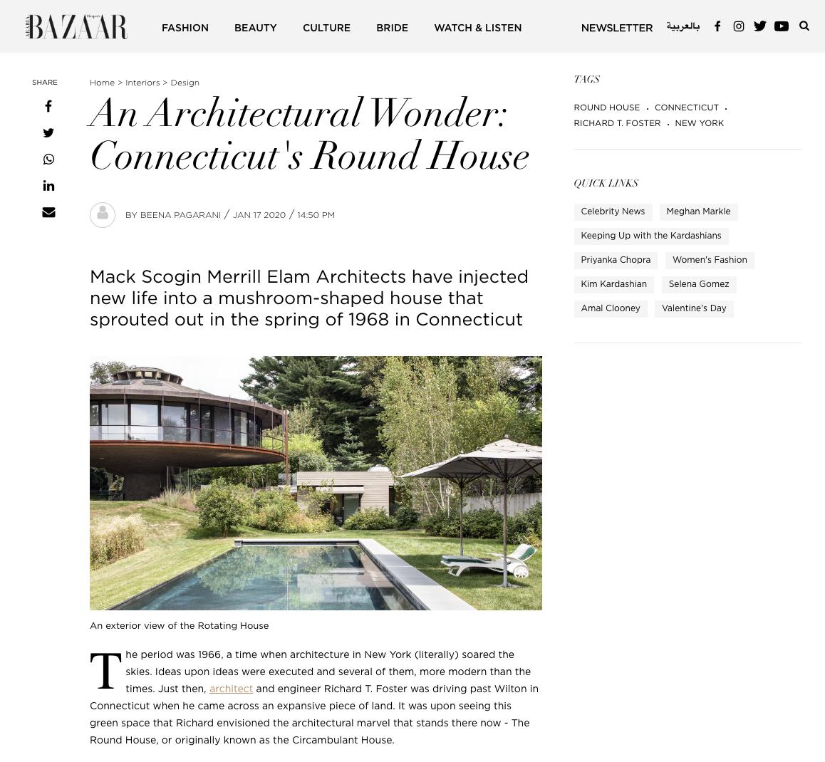 Harper's Bazaar - The Round House