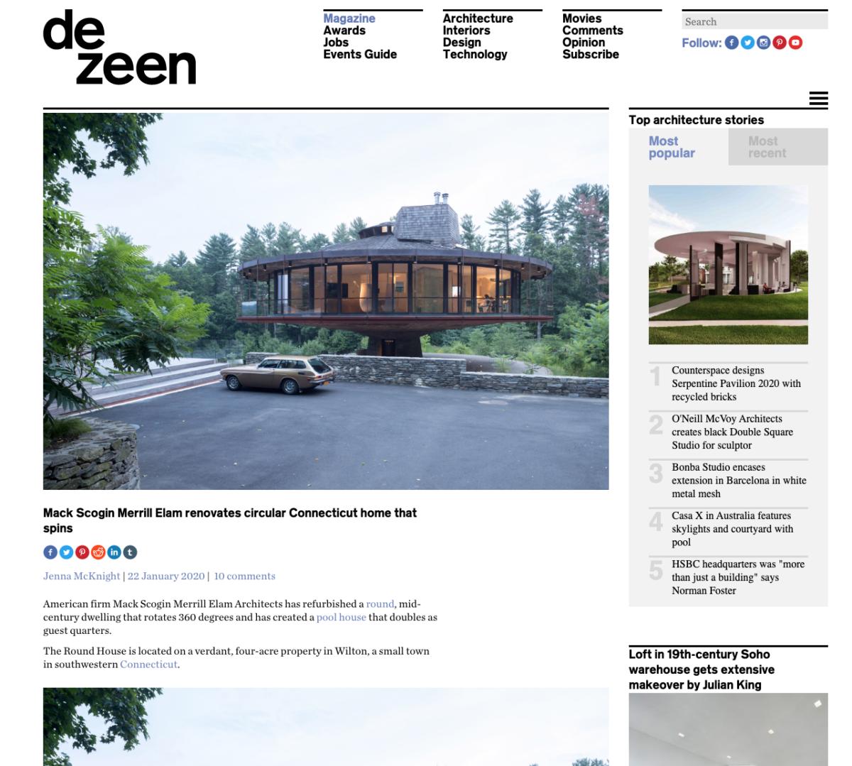 Dezeen - The Round House